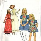 Simplicity 7242 Girls Mod Dress, Apron Sewing Pattern Size 7