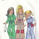 Girls 70s Jumpsuit Retro Vintage Sewing Pattern Simplicity 7277 Size 4