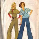 Simplicity 7348 Misses 70s Pullover Top, Pants Sewing Pattern Size 10