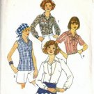 Misses 70s Blouse Vintage Sewing Pattern Simplicity 7353 Size 16