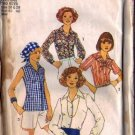 Simplicity 7353 Misses 70s Blouse Vintage Sewing Pattern Size 18, 20