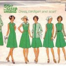 Simplicity 7360 Misses Dress, Cardigan, Scarf Sewing Pattern Half Size 18