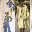 Simplicity 7373 Misses Shirt Jacket, Skirt, Pants Sewing Pattern Sz 10