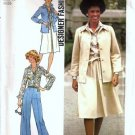 Simplicity 7373 Misses Shirt Jacket, Skirt, Pants Sewing Pattern Sz 16