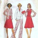 Simplicity 7376 Misses Jacket, Vest, Skirt, Pants Sewing Pattern Sz 10