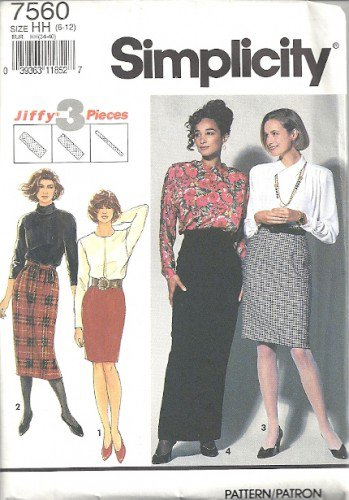 Simplicity 7560 Misses Jiffy Skirt Sewing Pattern Size 6, 8, 10, 12