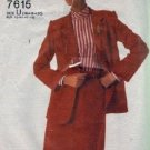 Simplicity 7615 Misses 80s Jacket, Skirt Sewing Pattern Size 16