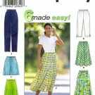 Simplicity 7655 Misses Pants, Shorts, Skirt Sewing Pattern Sz XS, S, M