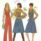 Simplicity 7675 Misses Wrap Skirt Vest Shirt Pants 70s Pattern Size 8