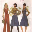 Simplicity 7675 Misses Wrap Skirt Vest Shirt Pants 70s Pattern Size 14