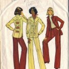 Simplicity 7696 Misses 70s Shirt-Jacket, Pants Sewing Pattern Size 14