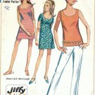 Simplicity 7702 Misses 60s Dress, Top, Pants Sewing Pattern Size 7