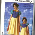 Disney Snow White Costume Misses Sewing Pattern Simplicity 7735 Size 14, 16