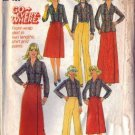 Simplicity 7798 Misses Wrap Skirt, Pants, Shirt Sewing Pattern Sz 6, 8