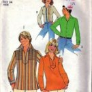 Simplicity 7823 Mens 70s Mod Shirt Sewing Pattern Size Small Chest 34