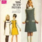 Simplicity 7825 Misses 60s Jumper Vintage Sewing Pattern Size 12