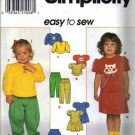 Simplicity 7886 Girls Dress Top Skirt Pants Sewing Pattern S 1/2, 1, 2