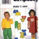 Simplicity 7886 Girls Dress Top Skirt Pants Sewing Pattern Sz 2, 3, 4