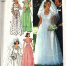 Simplicity 7886 Misses 70s Bride Bridesmaid Dress Sewing Pattern Sz 10