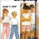 Simplicity 7892 Boy, Girl Top Pants Shorts Sewing Pattern Sz 5, 6, 6X