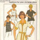 Misses Top Shirt Sewing Pattern Plus Sz 40, 42, 44, 46 Simplicity 7900