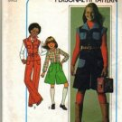 Girls 70s Top Pantskirt Pants Sewing Pattern Sz 8, 10 Simplicity 7906