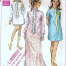 Simplicity 7912 Misses Nightshirt 60s Vintage Sewing Pattern Sz 12 14