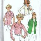 Simplicity 7912 Misses Raglan Shirt 70s Vintage Sewing Pattern Size 10