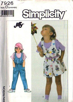 Simplicity 7926 Girls Jumpsuit, Romper Sewing Pattern Size 5, 6, 6X