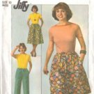 Simplicity 7959 Misses Drawstring Skirt Pants Top Sewing Pattern Sz 10
