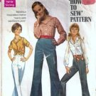 Simplicity 8009 Shirt, Pants 60s Sewing Pattern Jr Teen Size 15/16
