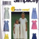 Simplicity 8030 Girls Dress, Sundress Sewing Pattern Size 3, 4, 5, 6