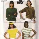 Simplicity 8088 Misses 70s Knit Pullover Tops Sewing Pattern Size 6, 8