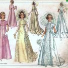 Simplicity 8091 Misses Bride, Bridesmaid Dress 60s Sewing Pattern S 10