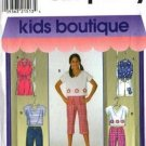 Simplicity 8112 Girls Top Capri Shorts Pants Sewing Pattern 7, 8, 10