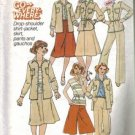 Misses 70s Shirt Skirt Gauchos Sewing Pattern Size 12 Simplicity 8105