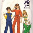 Simplicity 8122 Girls 70s Pullover Top, Pants Sewing Pattern Size 12