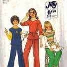 Simplicity 8122 Girls 70s Pullover Top, Pants Sewing Pattern Size 14