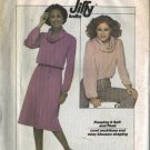 Simplicity 8162 Misses Cowl Collar Top, Skirt Sewing Pattern Size 6, 8