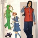 Simplicity 8177 Girls Skirt, Pants, Vest, Hood Sewing Pattern Sz 7, 8