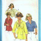 Simplicity 8209 Misses Tucked Blouse 70s Vintage Sewing Pattern Sz 12