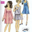 Simplicity 8229 Misses Baby Doll Dress 60s Sewing Pattern Size 10