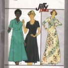 Simplicity 8253 Misses 70s Cowl Collar Dress Sewing Pattern Sz 16 1/2