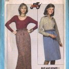 Simplicity 8267 Misses Jiffy Drawstring Skirt Sewing Pattern Size 6, 8