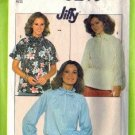 Simplicity 8293 Misses 70s Pullover Blouse Sewing Pattern Size 10, 12