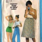 Simplicity 8345 Misses Pants, Shorts, Skirt Sewing Pattern Size 6, 8