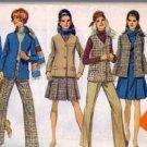 Simplicity 8356 Misses Jacket Vest Jumper Pants Sewing Pattern Size 12
