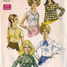 Simplicity 8399 Misses 60s Blouse Vintage Sewing Pattern Plus Size 40
