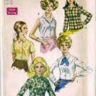 Simplicity 8399 Misses 60s Blouse Vintage Sewing Pattern Size 16