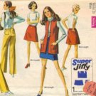 Simplicity 8411 Misses Skirt Vest Hip Hug Pants Sewing Pattern Size 16